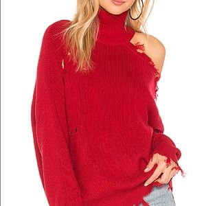 LOVERS&friends arlington sweater-red NWT